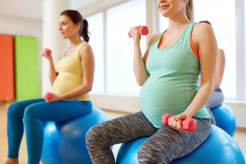 Pregnant Women Doing Excercises